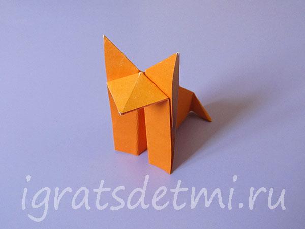 Лиса - оригами готова! Модель 1