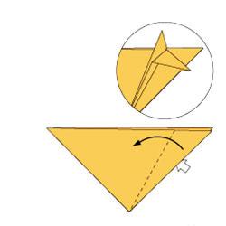 2-й вариант складывания лисы-оригами по схеме 4(а)
