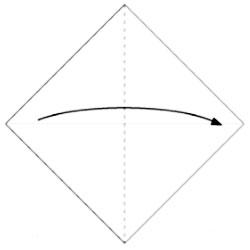 Складываем лису - оригами. Схема 1