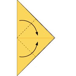 Лиса-оригами. Схема 2
