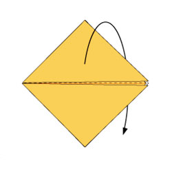 Лиса - оригами. Схема 3