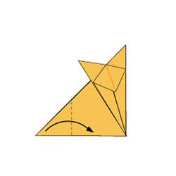 Выполняем хвост лисы - оригами. Схема 5(а)