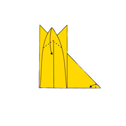 Лиса - оригами. Схема 5
